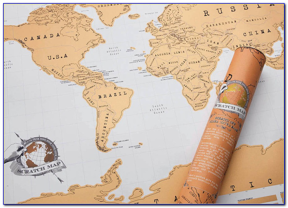 Luckies Scratch Map Rose Gold