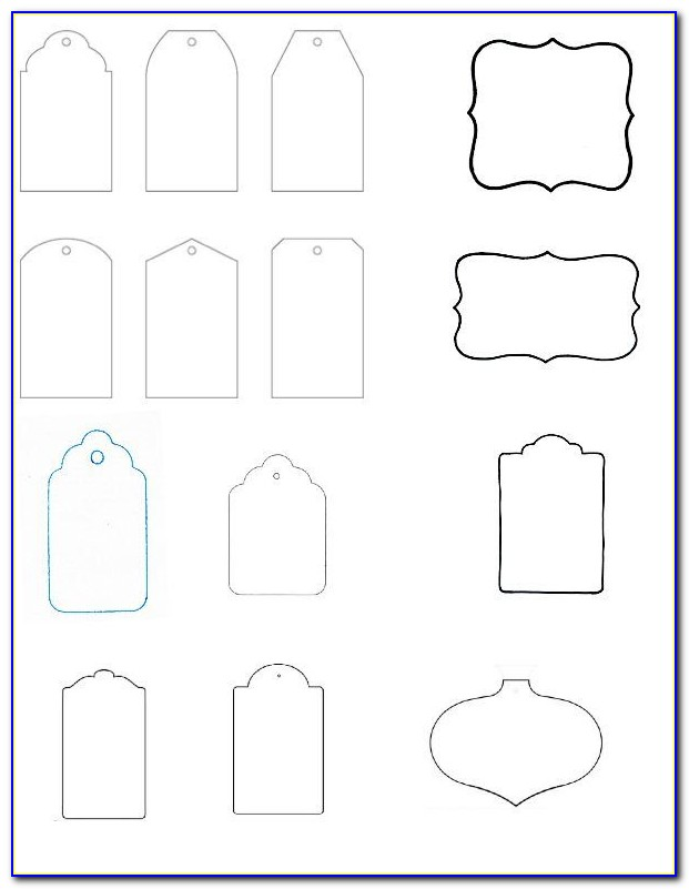 Luggage Gift Tag Template