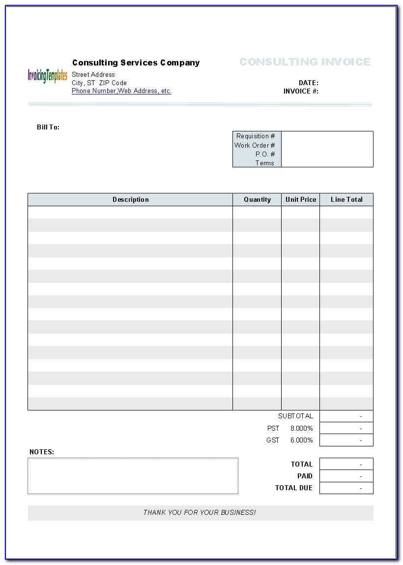 Mac Invoice Template Numbers