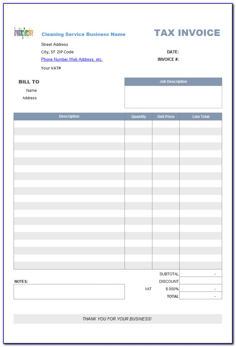Mac Os X Numbers Invoice Template
