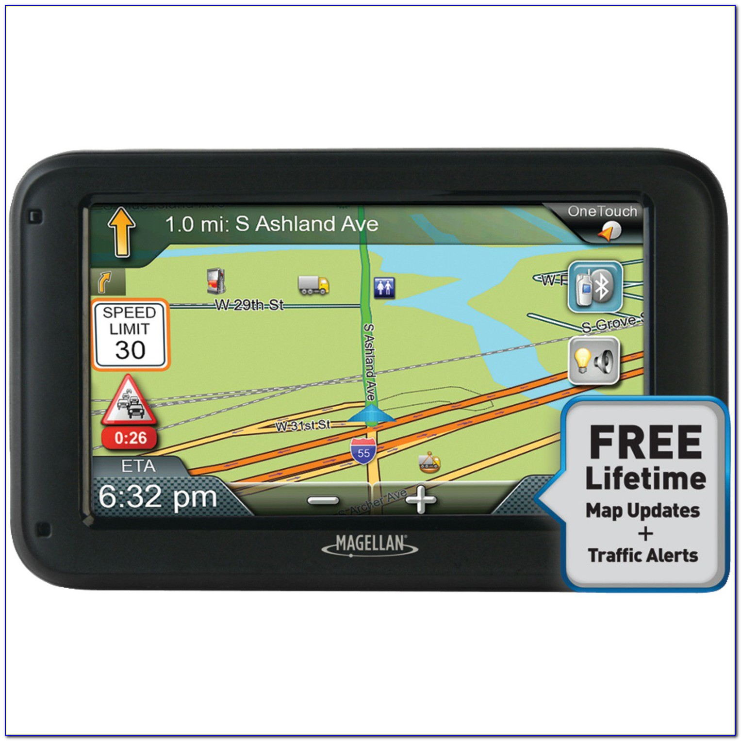 Magellan Roadmate 5630t Lm Gps With Lifetime Map Updates And Traffic Alerts