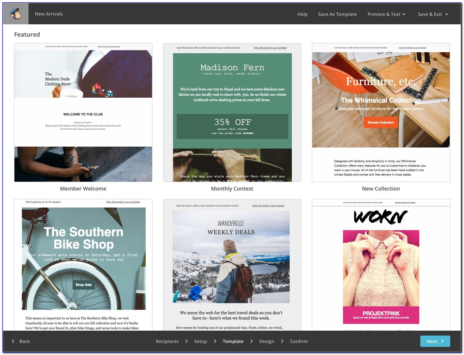 Mailchimp Newsletter Template Size
