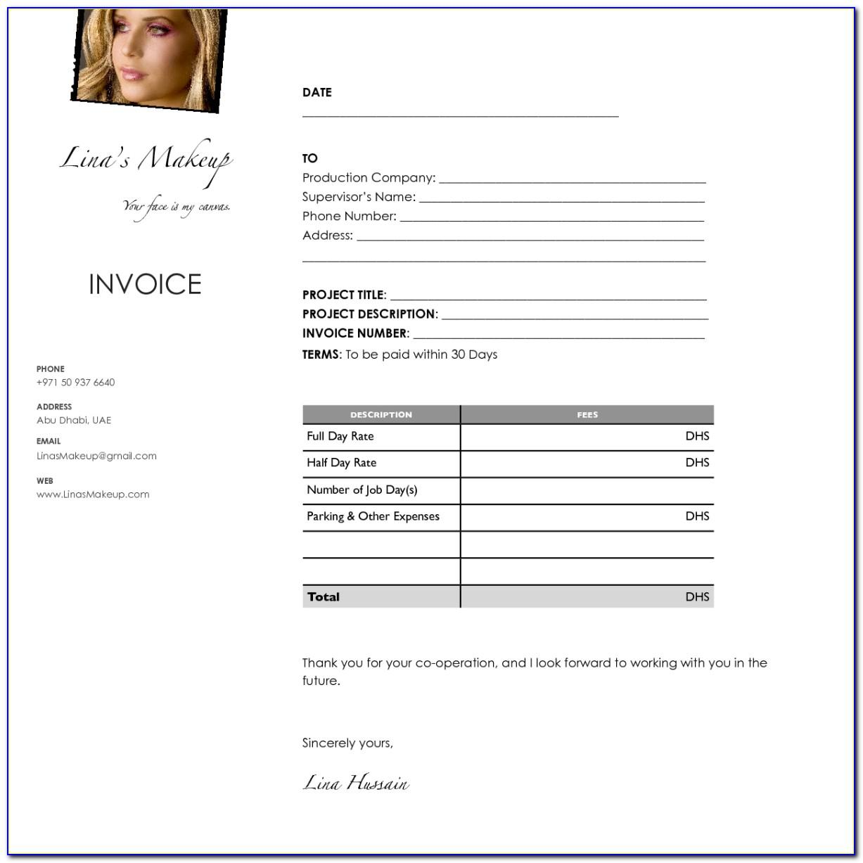 Makeup Artist Invoice Template