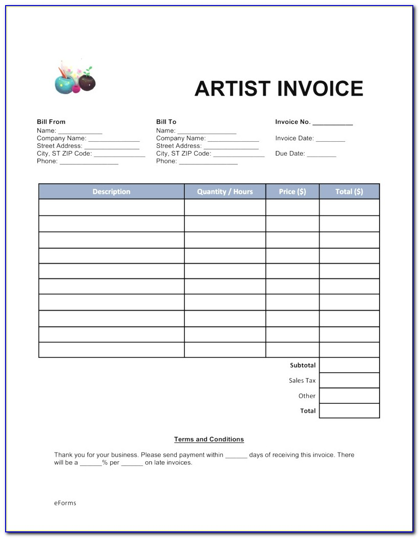 Makeup Invoice Template Free