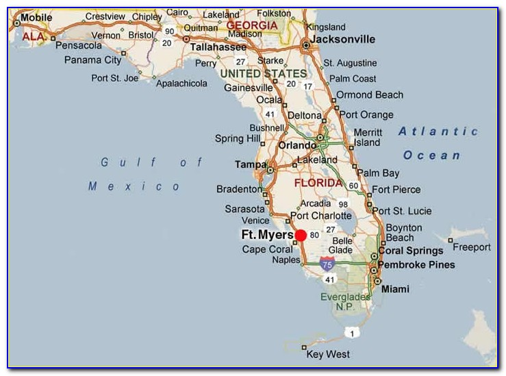 Map Ft Myers Florida