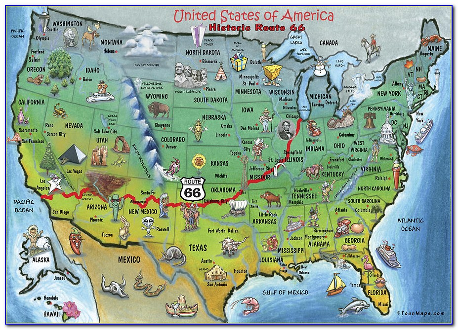 Map Historic Route 66