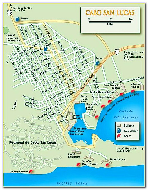 Map Of All Hotels In Cabo San Lucas