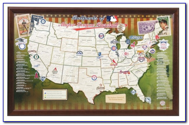 Map Of All Major League Ballparks