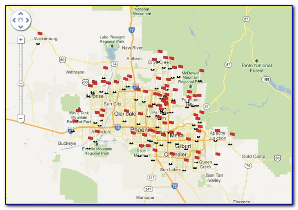 Map Of All Phoenix Golf Courses