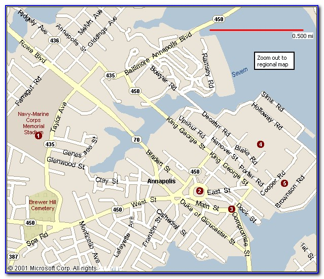 Map Of Annapolis Md Hotels