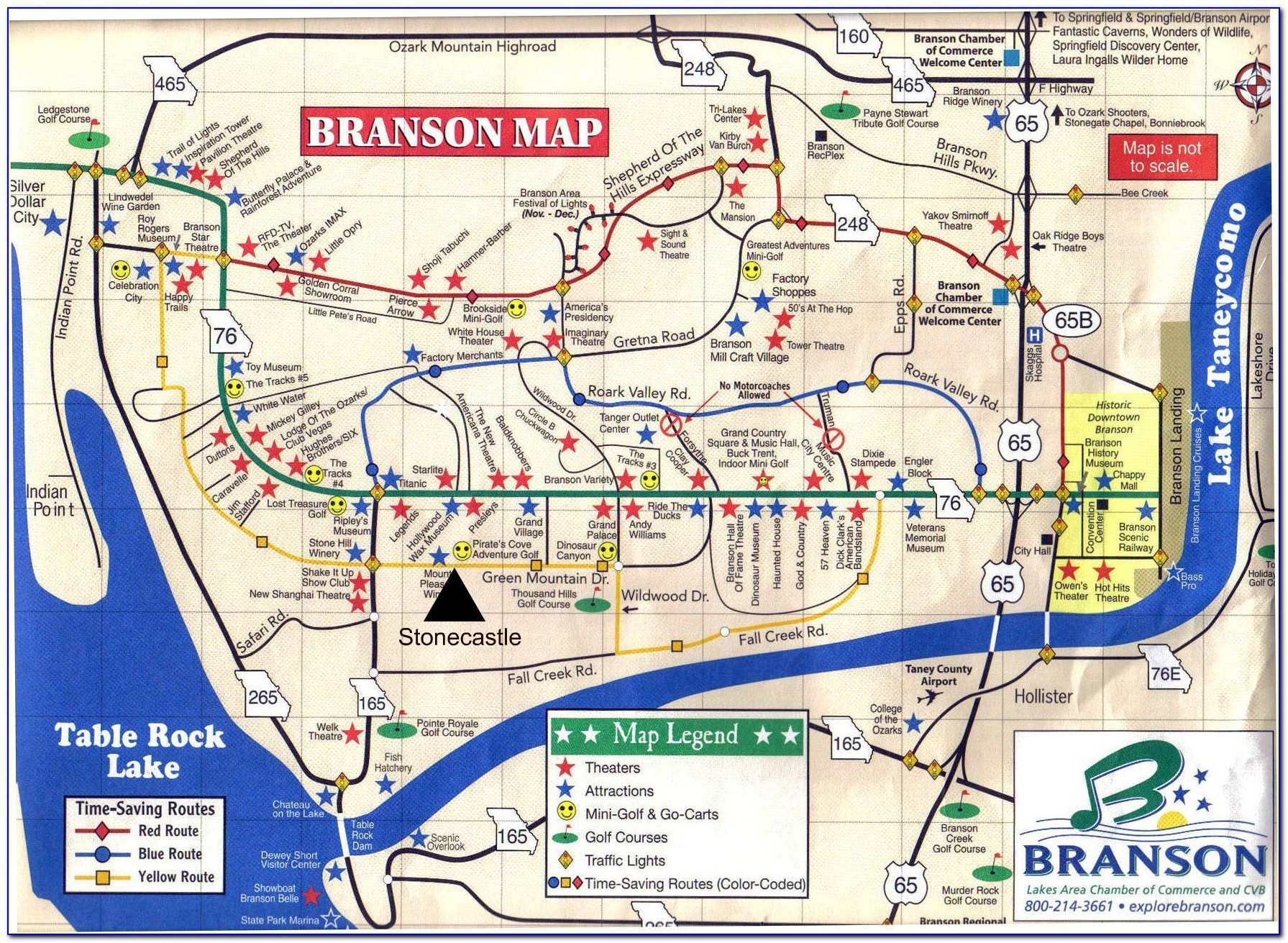 Map Of Branson Mo Hotels On The Strip