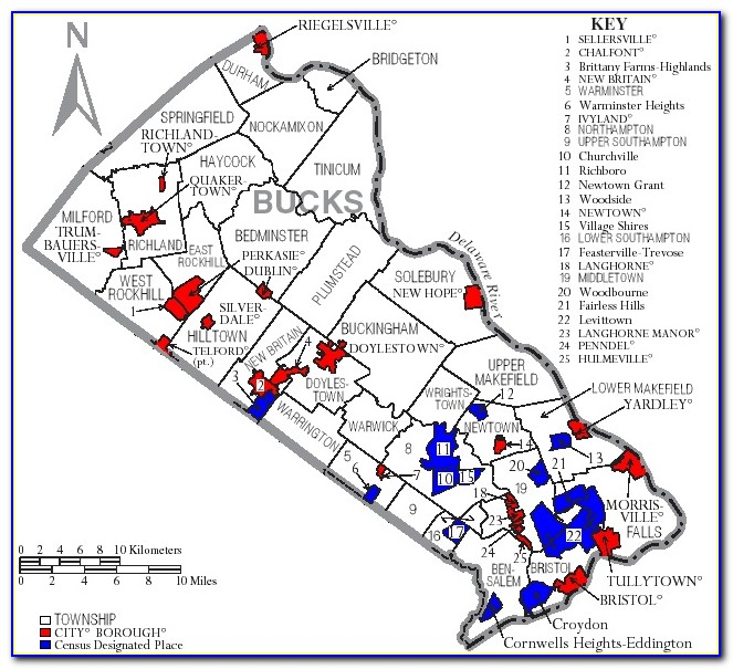 Map Of Bucks County Pa With Zip Codes