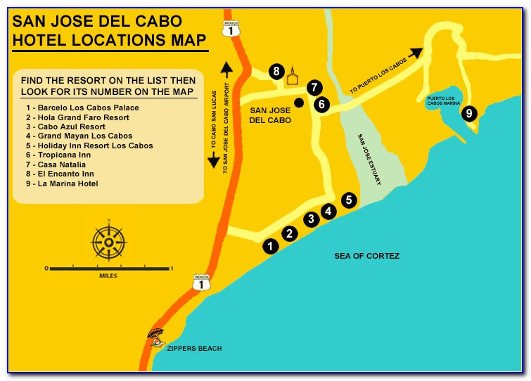 Map Of Cabo San Lucas Hotels And Resorts