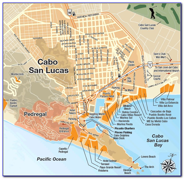 Map Of Cabo San Lucas Resorts All Inclusive