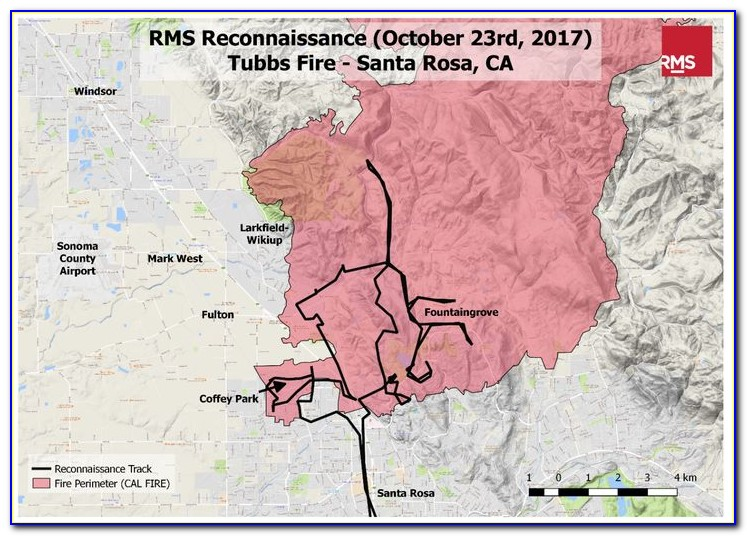 Map Of California Fires And Wineries