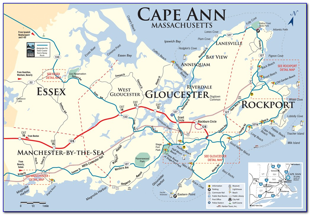 Map Of Cape Ann Area