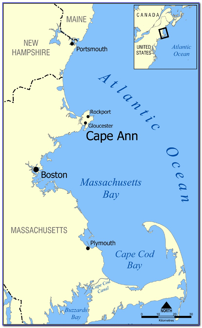 Map Of Cape Ann Beaches