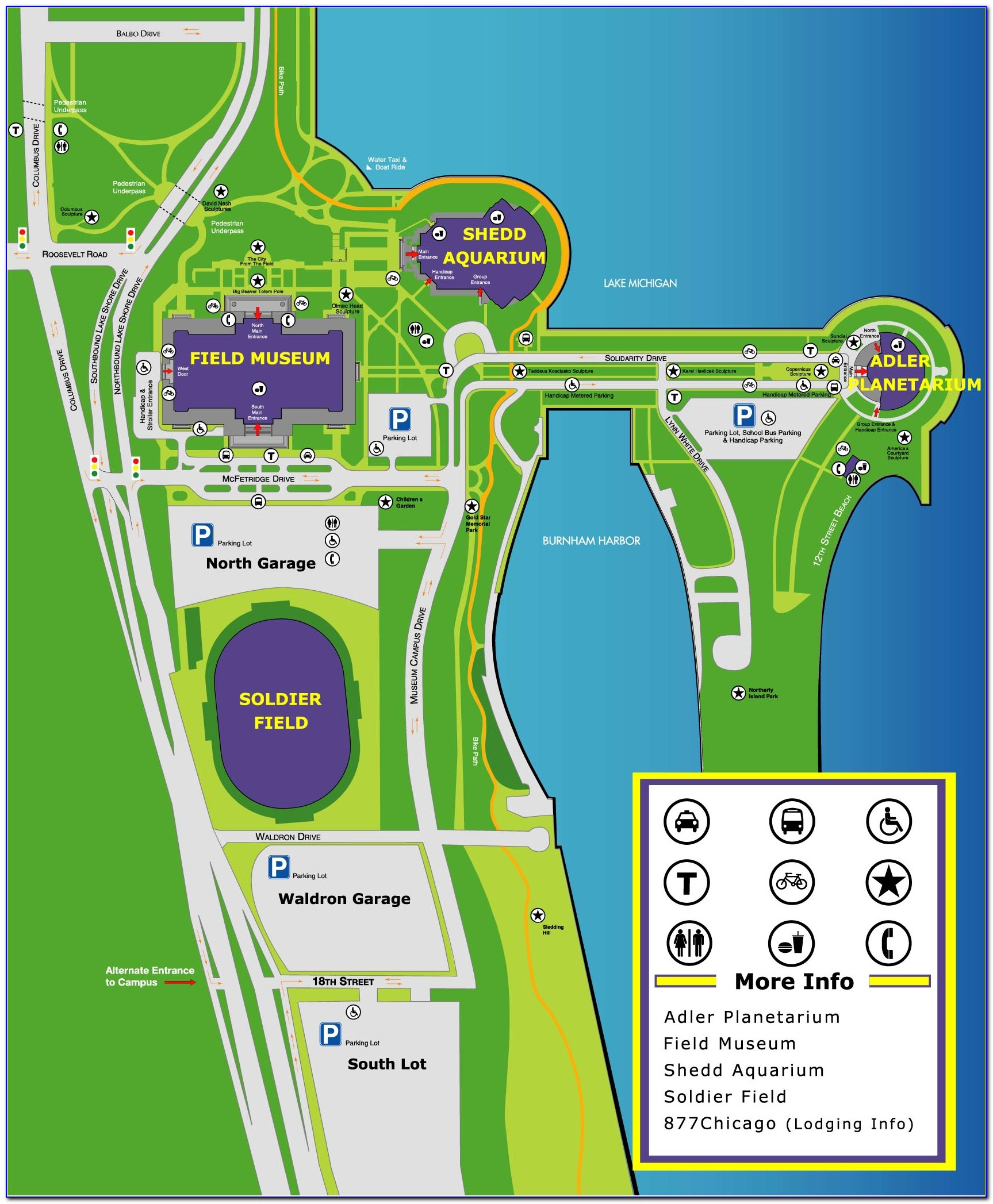 Map Of Chicago Around Soldier Field