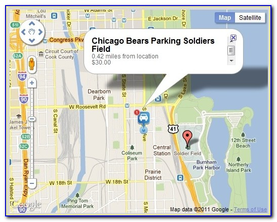 Map Of Chicago Near Soldier Field