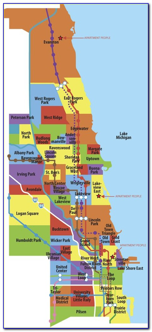 Map Of Chicago Neighborhoods By Name