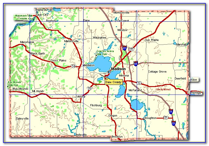 Map Of Cities In Dane County Wi