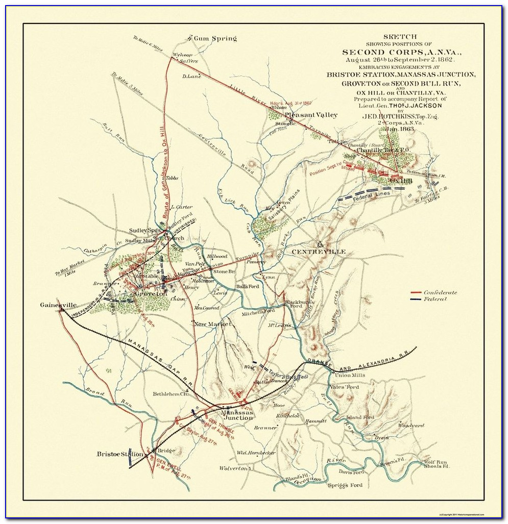 Map Of Civil War Battles By State