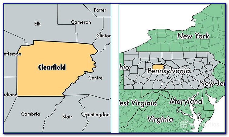Map Of Clearfield Co Pa