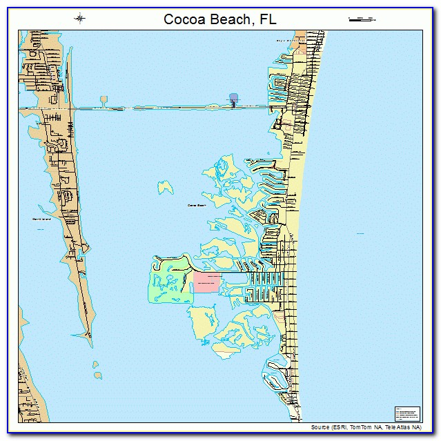 Map Of Cocoa Beach Hotels Oceanfront