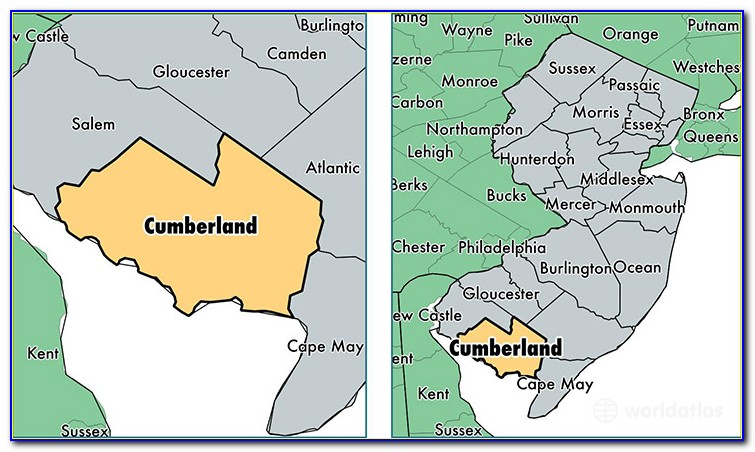 Map Of Cumberland County Nj Municipalities