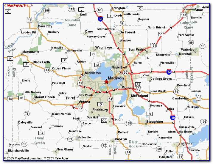 Map Of Dane County Districts