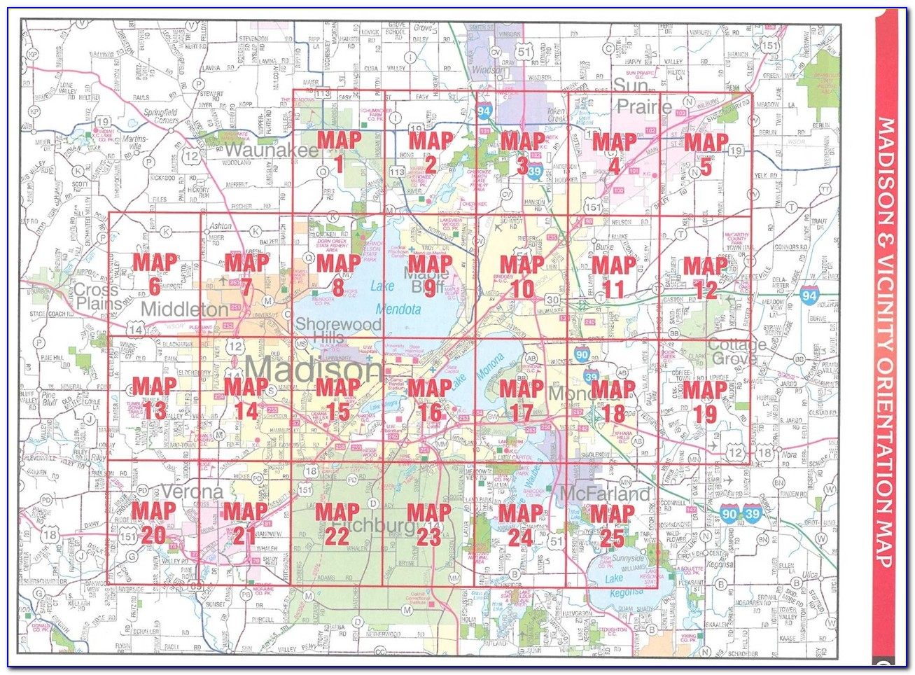 Map Of Dane County Parks