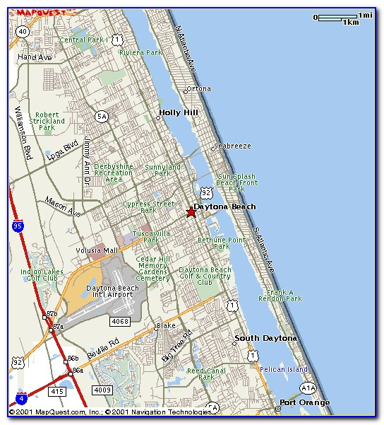 Map Of Daytona Beach Hotels