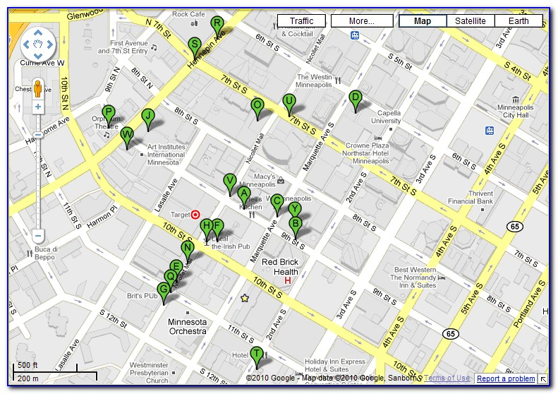 Map Of Downtown Minneapolis Hotels