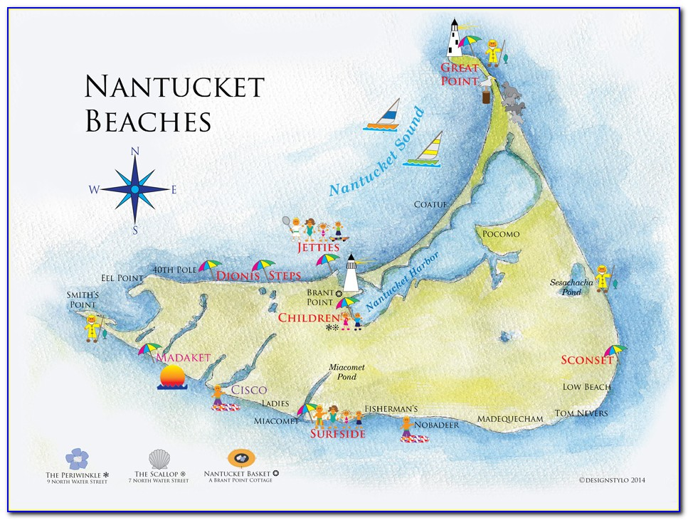 Map Of Downtown Nantucket Ma