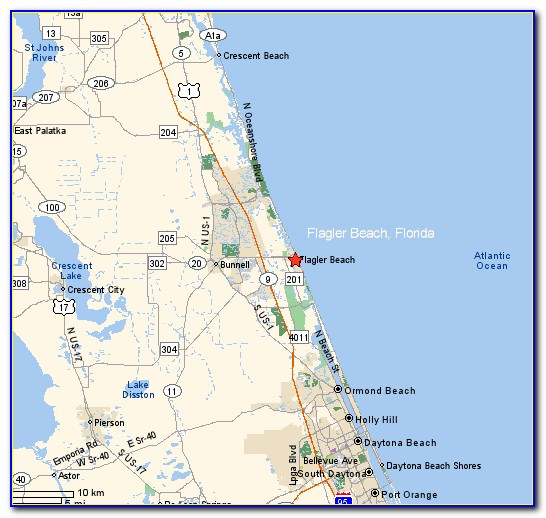Map Of Florida Showing Flagler Beach