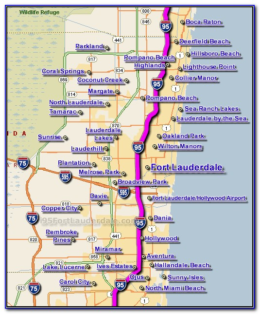 Map Of Fort Lauderdale Beachfront Hotels