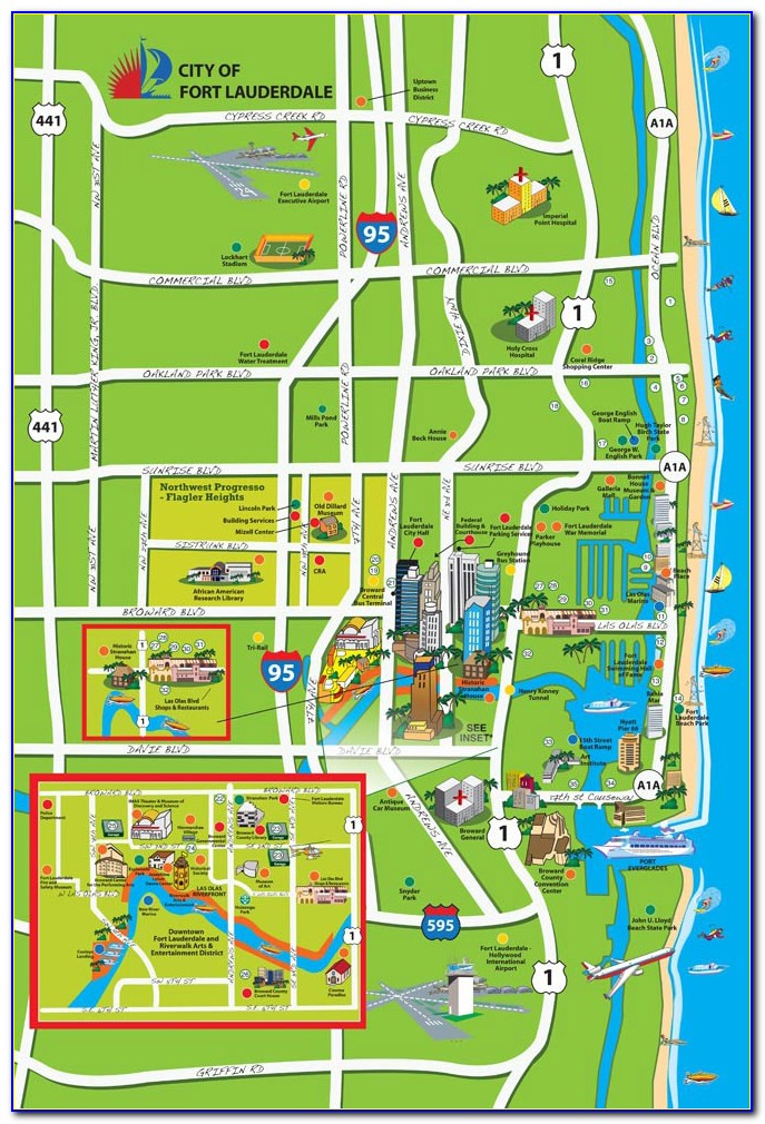Map Of Fort Lauderdale Hotels