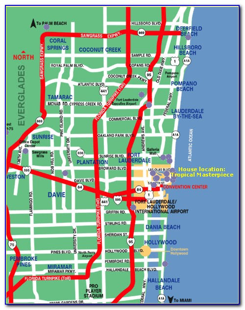 Map Of Ft Lauderdale Beach Hotels