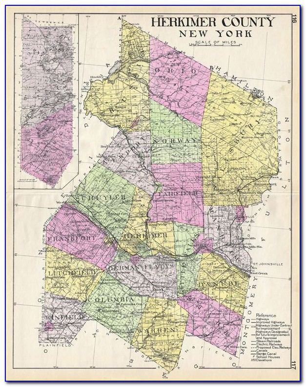 Map Of Herkimer County Ny
