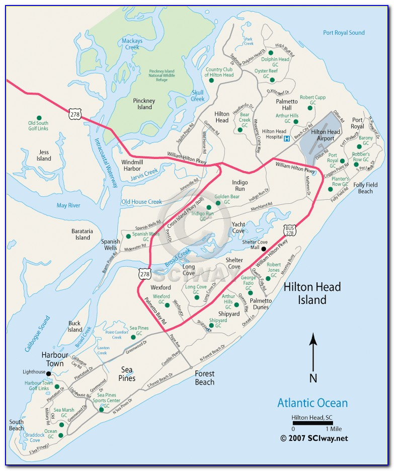 Map Of Hilton Head Island Bike Trails