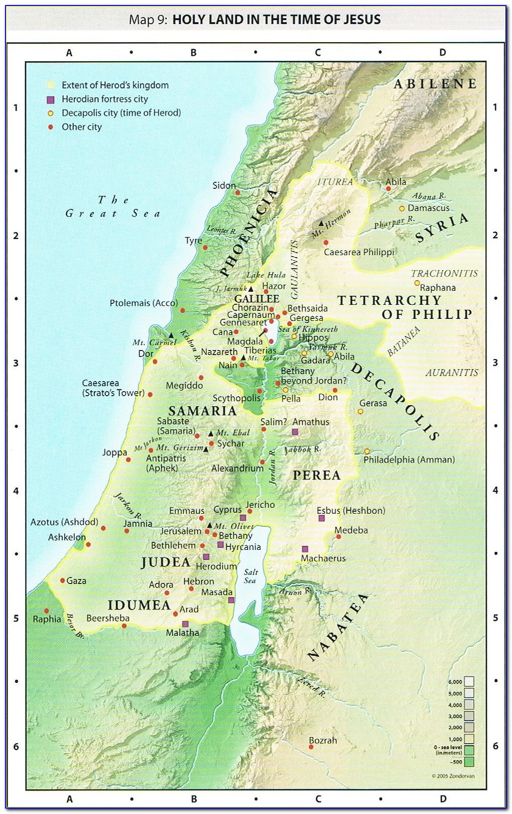 Map Of Holy Lands Today