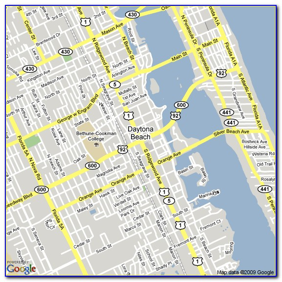 Map Of Hotels Daytona Beach Fl