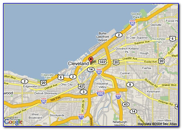 Map Of Hotels In Downtown Cleveland Oh