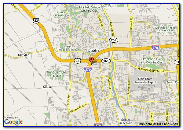Map Of Hotels In Downtown Columbus Ohio