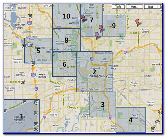Map Of Hotels In Indianapolis Indiana Downtown