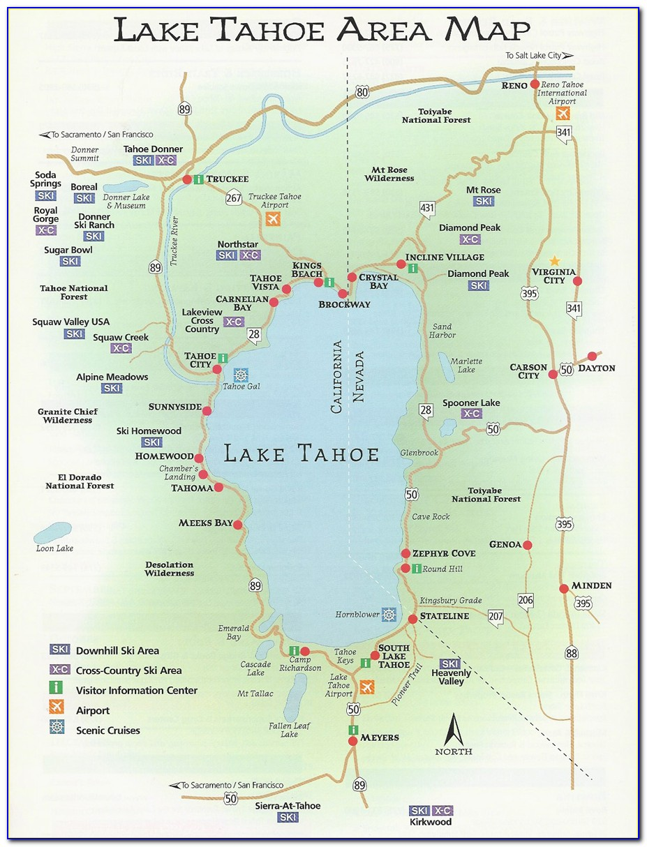 Map Of Hotels In Lake Tahoe Nv