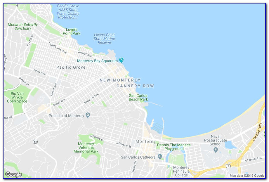 Map Of Hotels In Monterey Area