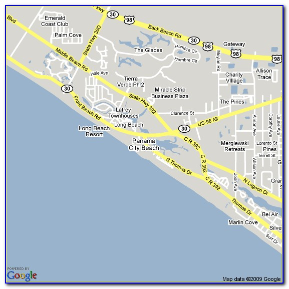 Map Of Hotels In Panama City Beach