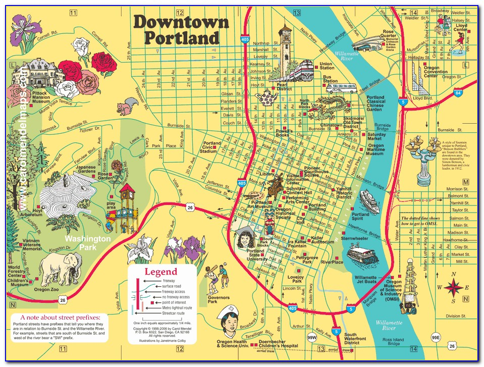 Map Of Hotels In Portland Or