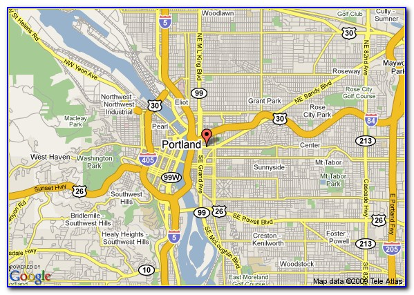 Map Of Hotels In Portland Oregon